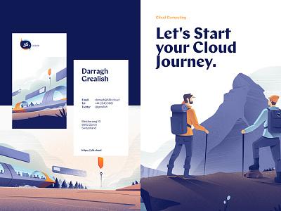 56k Cloud Branding / Illustration illustration illustrations business cards branding