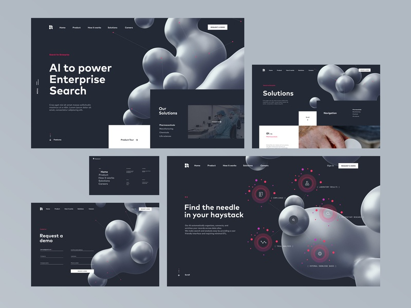 Resolute Site Redesign | AI Search based platform artificial intelligence motion 3d feature page homepage landing page