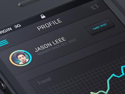 IOS 7 Flat app design  ui stats interface graph mobile ios menu nav bar header data profile statistics iphone button glow