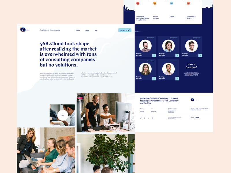 About Us Landing Page for a Cloud Consulting Startup aboutus team page devops landing page about us