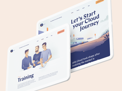 Homepage & About us page for a cloud consulting startup illustrations homepage branding brand identity about us