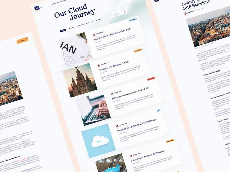 Blog Design for 56K Cloud blog