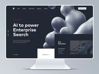Homepage Motion for AI Website design