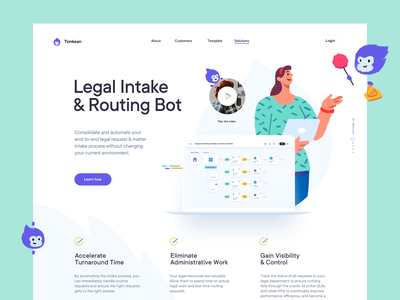 Features Landing Page Design for a SaaS website features feature websdesign characters monkey identity brand branding saas illustration website