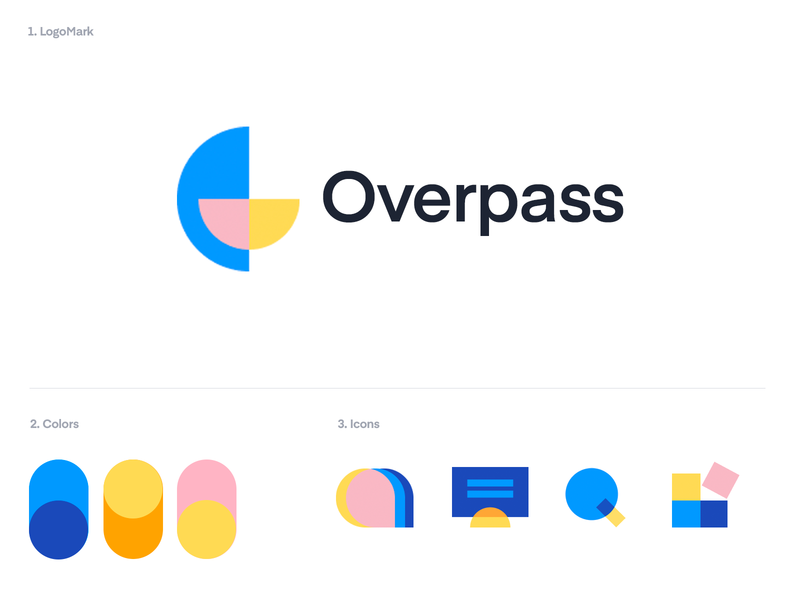 Identity,Branding, Icons for Overpass monitor icon chat icon integrate icon search icon blue logo identity abstract icons icons brand identity brand