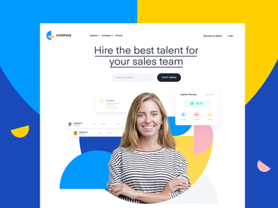 Features Page Design | SaaS Web design / UI blue typography hero identity branding web design website