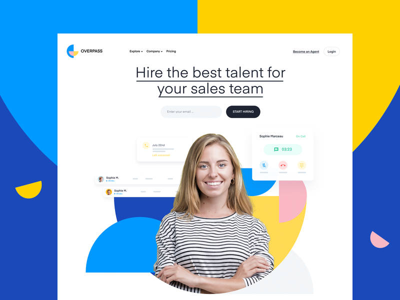 Features Page Design | SaaS Web design / UI blue typography hero identity branding web design website