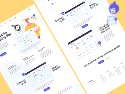 Features Page Full preview | Webdesign / UI brand identity identity branding icons illustrations homepage features website webdesign