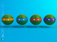 Ninja Turtles c4d