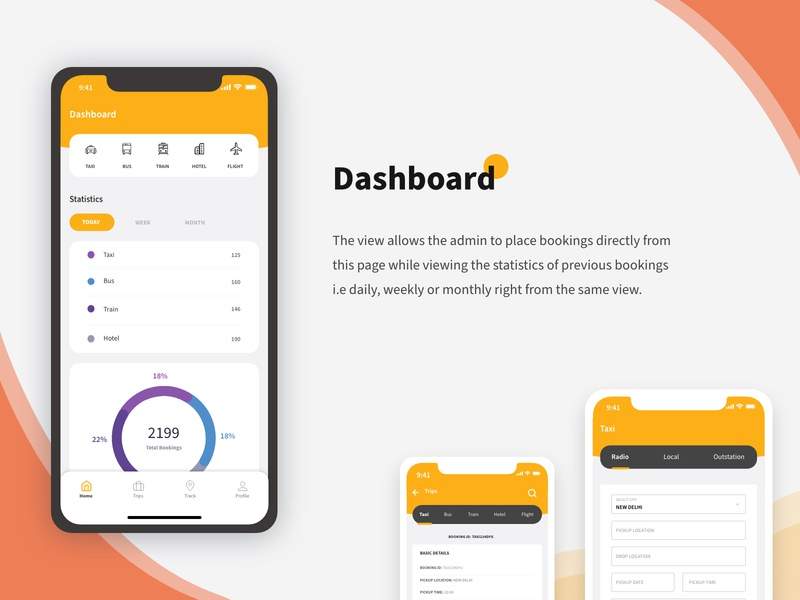 Corporate SPOC booking APP bookings booking app travel stats ui dashboard ux design uiux uidesign product design design appdesign app