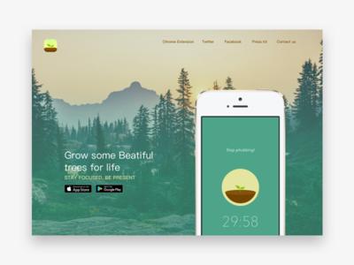 Forest AppLandingpage ux ui uidesign web logo website design webdesign userinterface typography landingpage product illustration icon app