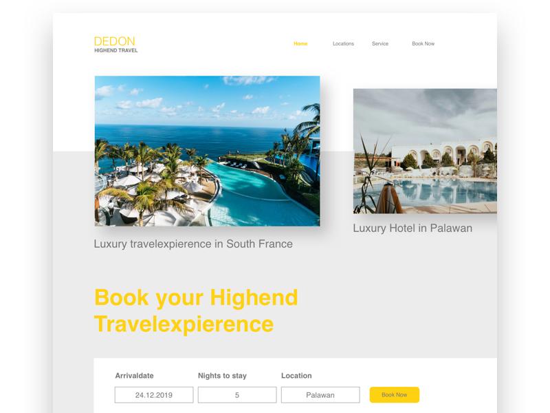 DEDON Luxury Travelexpierence typography product website ux uidesign ui vector logo illustration web webdesign userinterface landingpage