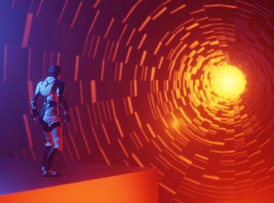 Space Portal orange scifi space blender blender3d 3d