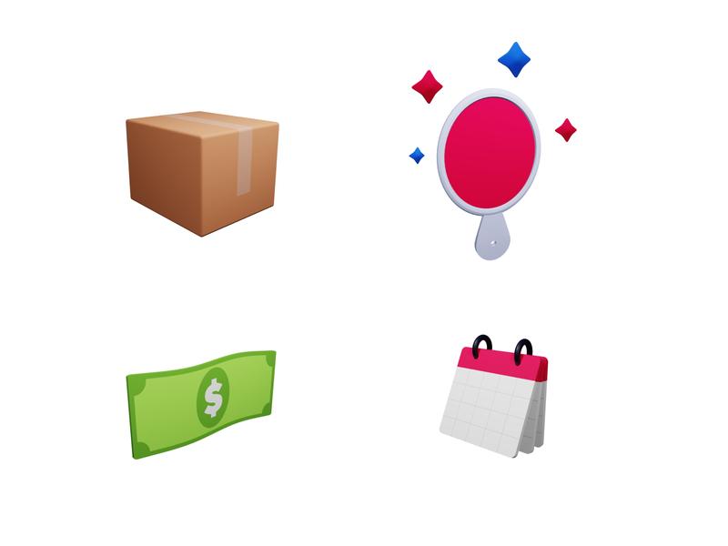 3D Icons ui blender3d blender 3dicons icons 3d