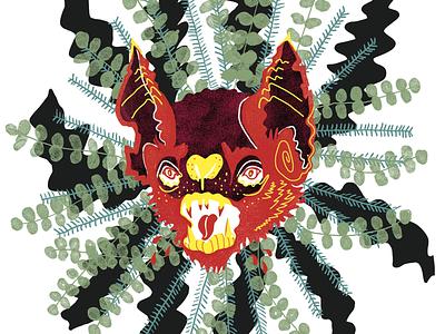 xmas bat illustration
