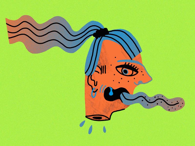 frantic illustration