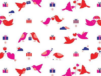 Gift Wrap Design birds wrap gift surface design pattern illustration