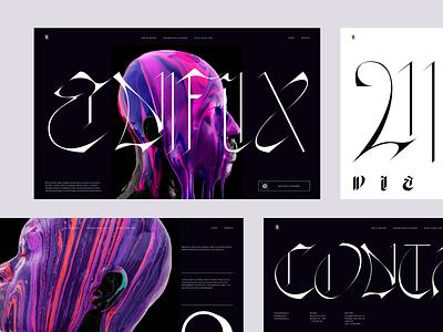 ENIFIX - website concept for art platform interaction color typography inteface ux ui web concept inspiration design