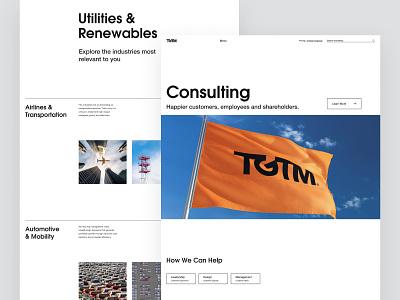 TGTM Website inteface design concept landing interaction branding ux ui