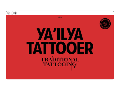 Traditional tattooing website color ux ui concept illustration design web typography interaction inspiration
