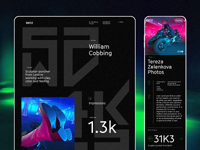 Design for Sintezia branding inteface concept ui typography ux inspiration design