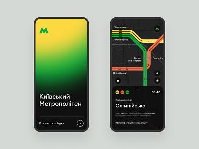 Kyiv subway app product concept inspiration app design inteface ui ux