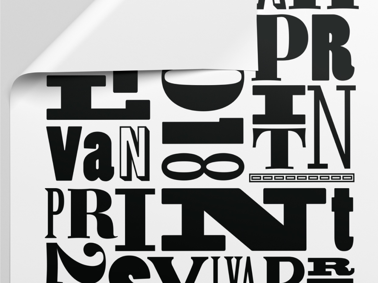 Poster series for SylvanPrint Store inspiration type art poster design compositing typography