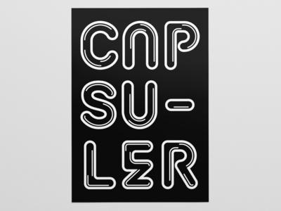 Poster Capsuler for SYLVANPRINT vector illustration typography inspiration design