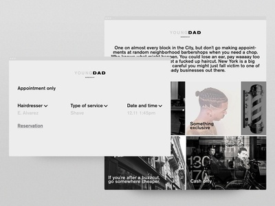 YOUNG DAD web site interaction design landing concept branding typography interaction inspiration inteface web design ui ux