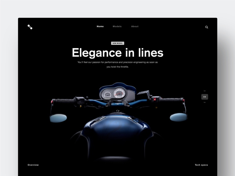 Promo site Page UI Exercise compositing landing concept branding typography interaction inteface inspiration web ui ux design