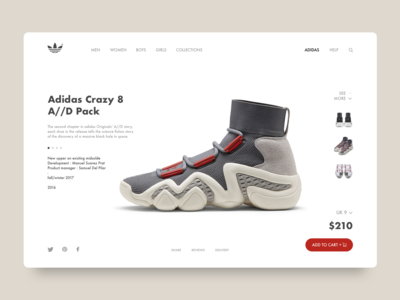 Adidas style market site compositing landing interaction design concept branding typography design inspiration interaction inteface web ui ux