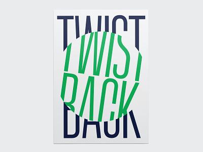 Poster TWISTBACK for SYLVANPRINT color poster branding concept vector illustration typography inspiration design