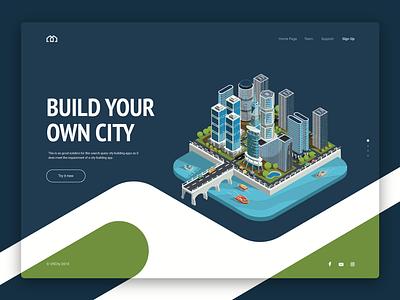 VRCity promo page design app vector illustration compositing landing interaction design color branding concept typography interaction inteface web design inspiration ui ux