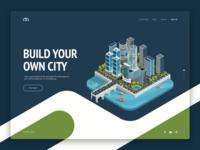 VRCity promo page design