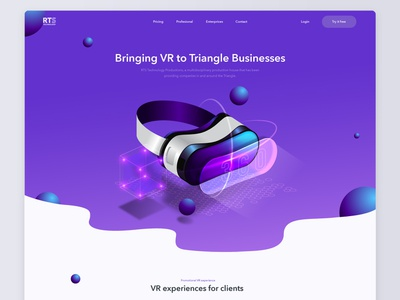 Landing page design for RTS Technology color landing bright illustration vector inspiration interaction design interaction inteface web ui ux design