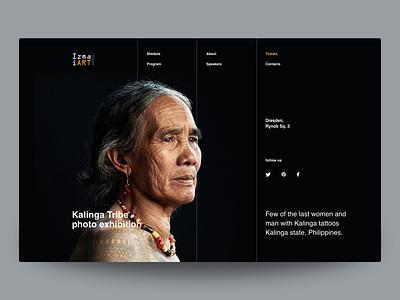 IzmaiART page design studio freelance ukraine agency outsourcing interaction design concept color landing typography interaction web ui inteface ux inspiration
