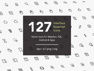 Interface Essential Icons inteface ux interaction web ui vector icon a day icon app icon