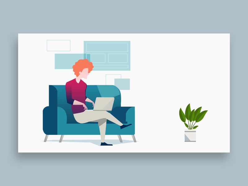 character drawing web illustration design