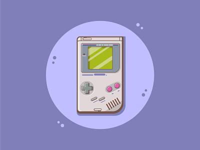 GameBoy gameboy nintendo design ui gaming simple design cute art illustration cute cute fun funny cartoon art vector art flat illustration