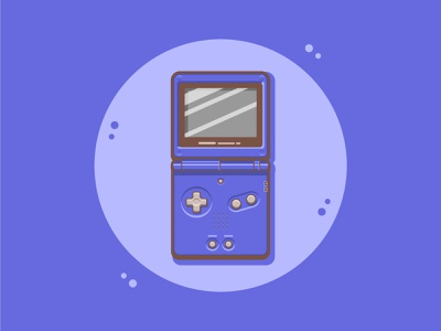 Gameboy Advance SP nintendo cute simple illustration illustration cute art cute fun funny cartoon art character design flat illustration vector art game art gameboy advanced sp gameboy