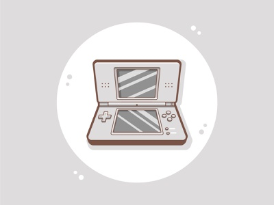 Nintendo DS gaming simple illustration nintendo game cartoon cute fun funny illustration cute art vector art cartoon art flat illustration