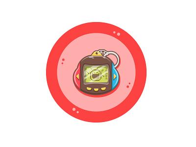 Tamagochi Nintendo Switch Inspired Design childhood circle nintendo switch nintendoswitch red minimalistic minimal minimalist funny console simple design product design gaming nintendo game cute fun funny cute art cartoon art vector art flat illustration