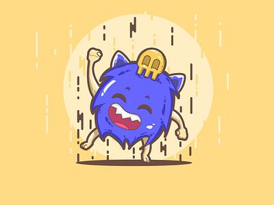 Sweet Rain cute flat designs flat illustration character design