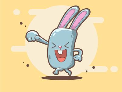 Rabbit game cute cartoon cute fun funny cute art character design illustration cartoon art vector art flat illustration