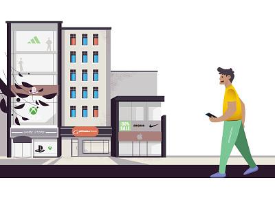 Shopping creative motiongraphics illustrator vector characterdesign illustration ill motion graphics
