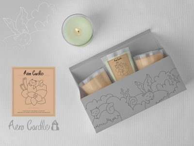Aero Candle Co.   Branding & Packaging   Weekly Warm-up company box graphic design graphic logo branding illustration brand identify packaging candle design candle