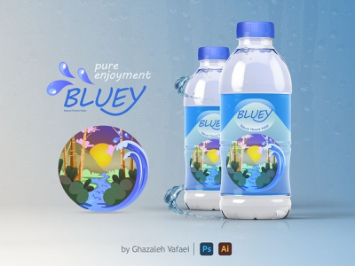 Mineral Water Packaging Design illustrator photoshop vector mineral water logo design identity design identity brand design marketing branding logo design packaging graphic graphic design