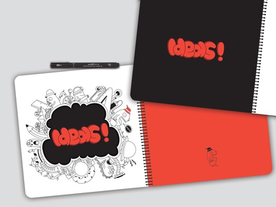 notebook design design red drawing creative ideas doodleart typogaphy graphicdesign graphic photoshop illustrator notebook design notebook mockup