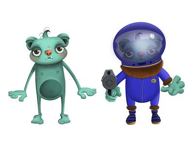 Alien monster procreate applepencil ipadpro monster alien illustration characterdesign