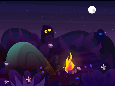 dribble weekly warm up yule log vector creative illustrator yule log camp fire illustraion
